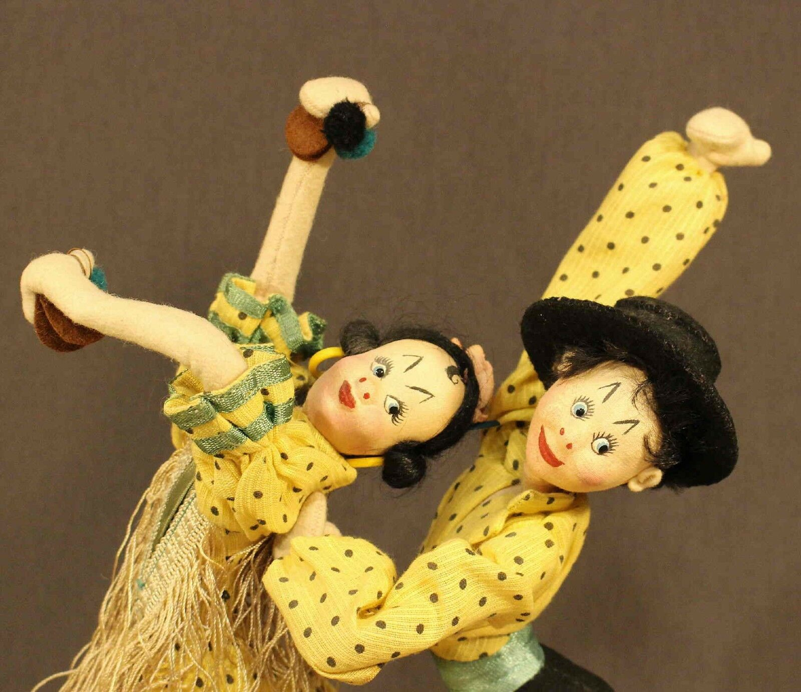 MATCHED PAIR  OF  SPANISH  DANCER  DOLLS by