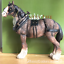 Large-Shire-Cart-Heavy-Horse-in-harness-ornament-figurine-Leonardo-gift-boxed miniatuur 8