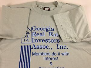Georgia-Real-Estate-Investors-T-Shirt-VTG-90s-Adult-SZ-M-L-Members-Only-USA-Made