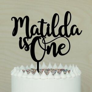 Image Is Loading One Personalised 1st Birthday Cake Topper Happy