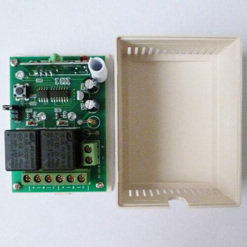 4 Buttons Remote Controls 2 PCS 2 CH RF Wireless Receiver DC12V 433.92MHz EV1527