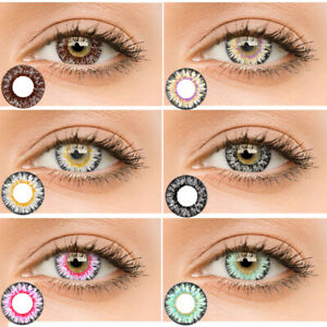1 Pair Big Eyes Circle Colored Contact Lenses Yearly Use Eye Makeup Vente
