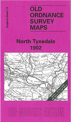 OLD ORDNANCE SURVEY MAP NORTH TYNEDALE 1902 BELLINGHAM FALLOWFIELD SIMONBURN