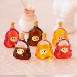 2PCS Random Miniature Dollhouse Kitchen Wine Bottle Lanscape Decor Xmas Gift