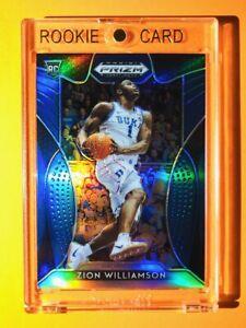 Zion Williamson RARE BLUE REFRACTOR ROOKIE PANINI PRIZM DRAFT PICKS RC #1 Mint!