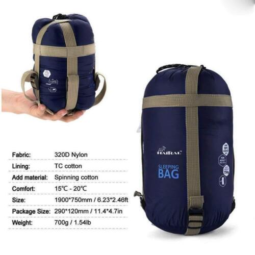 New Waterproof Outdoor Sleeping Bag for Camping Travel Hiking Carrying Bag