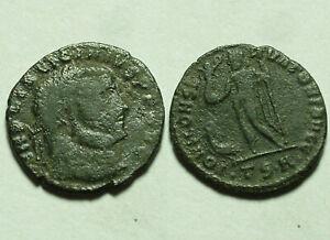 Licinius I Jupiter Eagle Victory wreath Rare genuine Ancient Roman coin 313 AD
