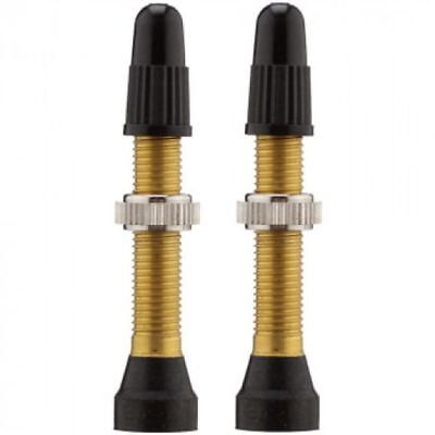 WTB 34mm Tubless Valve Stem-Brass-Mountain Bike Valve Stem-Pair-New