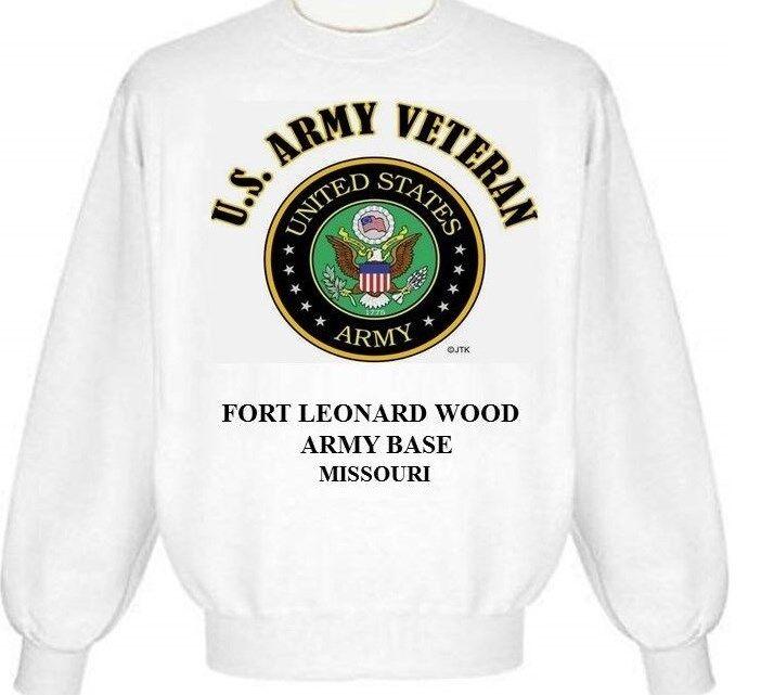 Fort Leonard bois Armée Base  Missouri  armée Emblème Sweat