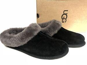 b005a228312 Details about Ugg Australia Moraene Black 1007703 Women Sheepskin Suede  Slipper House Shoes