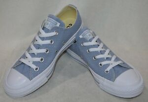 6fe459030ad8 Converse Women s CTAS OX Glacier Gray(Blueish) Wht Perforated ...