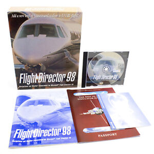 Flight-Director-98-for-PC-CD-ROM-in-Big-Box-by-Flight-1-Software-1998-VGC
