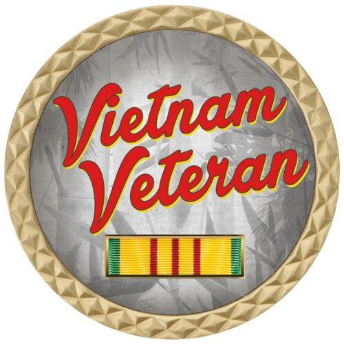 "VIETNAM VETERAN RIBBON AGENT ORANGE DIOXIN MILITARY 1.75/"" CHALLENGE COIN"