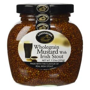 Lakeshore Wholegrain Mustard with Irish Stout - 7.2oz (205g)