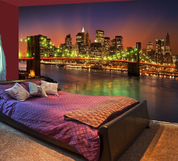3D City River Bridge 48 WallPaper Murals Wall Print Decal Wall Deco AJ WALLPAPER
