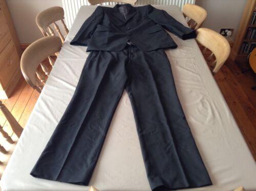 da uomo Bhs petto pantaloni nera e 34r vita 42r Giacca giacca da Zq56dqwa