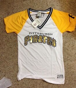 0a8940ca264 Image is loading VICTORIAS-Secret-Pink-MLB-PITTSBURGH-Pirates-JERSEY-BLING-