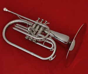 Professional-Silver-Nickel-Marching-Mellophone-F-Tone-Horn-With-Case