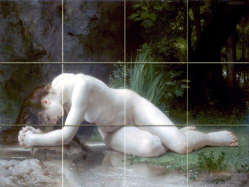 Art Bouguereau Nude Ceramic Mural Backsplash Bath Tile #1452