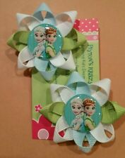 "Frozen~Elsa/Anna~Olaf~New Frozen Fever~2"" Hair Clips!!!Soo Cute.U pick 1 set."