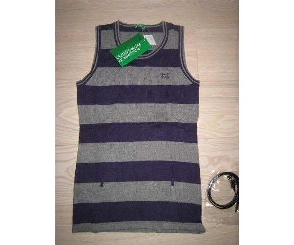 Vest, Strikvest, United colors of Benetton
