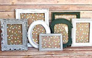 Details About 7 Pcs Wall Hanging Picture Frame Set Rustic Decor Farmhouse