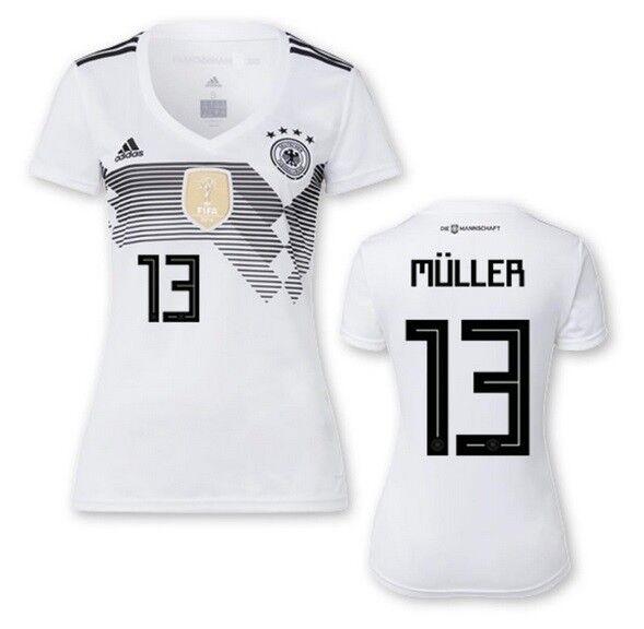 Trikot Adidas DFB 2018 Home Damen Damen Damen - Müller 13  Deutschland WM 2018 68b747