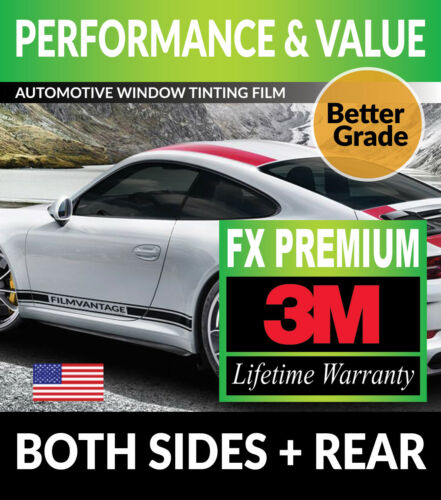 PRECUT WINDOW TINT W// 3M FX-PREMIUM FOR HONDA CIVIC 4DR SEDAN 12-15