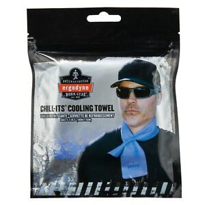 OF NEW Free Ship Blue Ergodyne Chill-Its 6603 Evaporative Cooling Band Towel