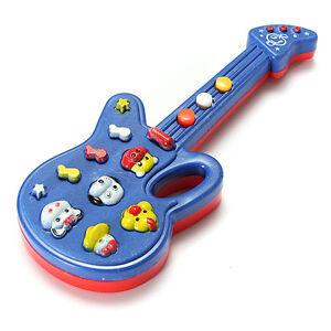 Neu-Elektronische-Gitarre-Toy-Sound-Music-Baby-Entwicklungs-Kleinkind-Bildungs