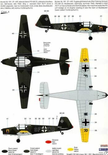SpecialHobby Bücker Bü-181 Bestmann Luftwaffe Swiss 1:48 Modell-Bausatz NEU kit