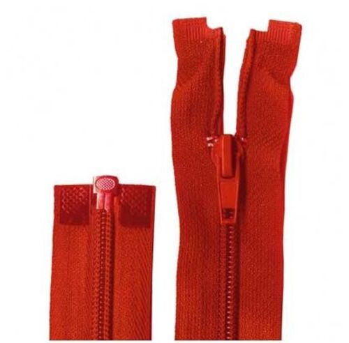 25cm Atom Red Open End Zip
