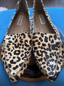 Steve Madden cheetah (cow hide) print flats size 8m