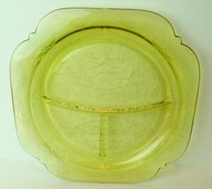 Madrid-Golden-Glow-Grill-Dinner-Plate-Federal-Depression-Glass-1933
