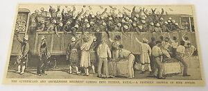 1884-magazine-engraving-SUTHERLAND-amp-ARGYLLSHIRE-REGIMENT-Durban-Natal