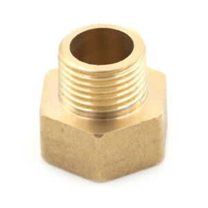 Metal-Brass-Metric-BSP-G-3-4-034-Female-to-NPT-1-2-034-Male-Pipe-Fitting-Adapter-KIHI