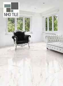 Image Is Loading Glazed Polished Porcelain Tile 32x32 Iceberg Soft Vein