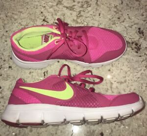 promo code 84036 be6b3 Image is loading Nike-Flex-Experience-599344-636-Pink-Fuchsia-Running-