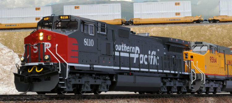 Kato 376630 HO Southern Pacific GE C44-9W Diesel Locomotive  8104  Gris, rosso