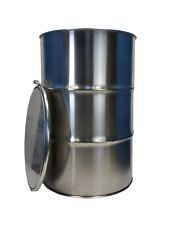 55 Gallon Stainless Steel Barrel Drum Open Top 10mm Thick New