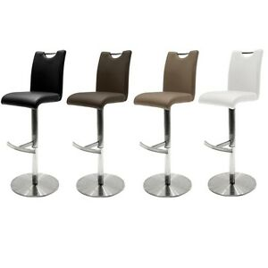 barhocker alesi in vers farben barstuhl thekenstuhl hochstuhl edelstahl wow ebay. Black Bedroom Furniture Sets. Home Design Ideas