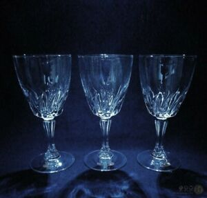 3-x-Vintage-Wine-Glasses-With-Fluted-Stems-FREE-Delivery-UK