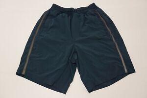 Lululemon Blue Gray Lined Mens Running Shorts Sz M