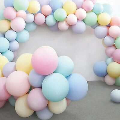 """Mixed Pastel Finish 5/"""" 12/"""" 24/"""" Round Latex Balloons Pink Blue Mint Lavender"""