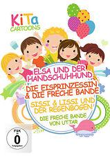 DVD KiTa Cartoons mit Elsa und der Handschuhhund, Die Eisprinzessin, Sissi und L