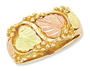Women-039-s-Landstrom-039-s-Tri-color-10K-Black-Hills-Gold-Wedding-Ring-Size-4-11