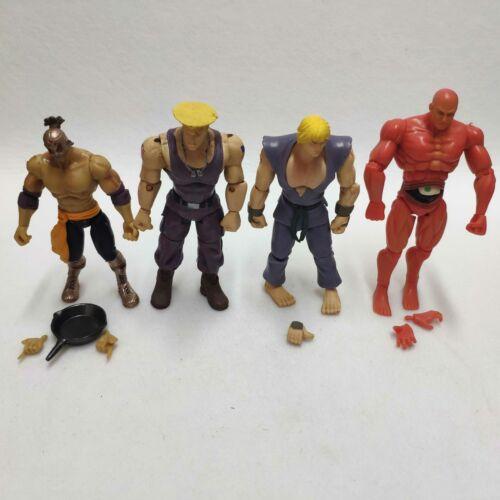 Jazwares Street Fighter Ryu Ken Guile El Fuerte RED SETH  Loose Action Figure