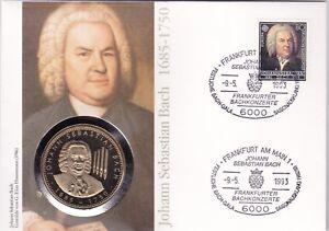 Numisbrief-Deutschland-Johann-Sebastian-Bach-80-Pfg-Stempel-Frankfurt-Main-1993