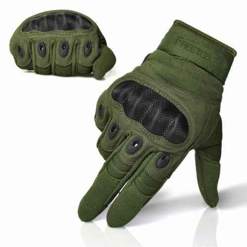 Freetoo Men/'s Outdoor Gloves Full Finger Cycling Moto. Shooting Lg Army Green