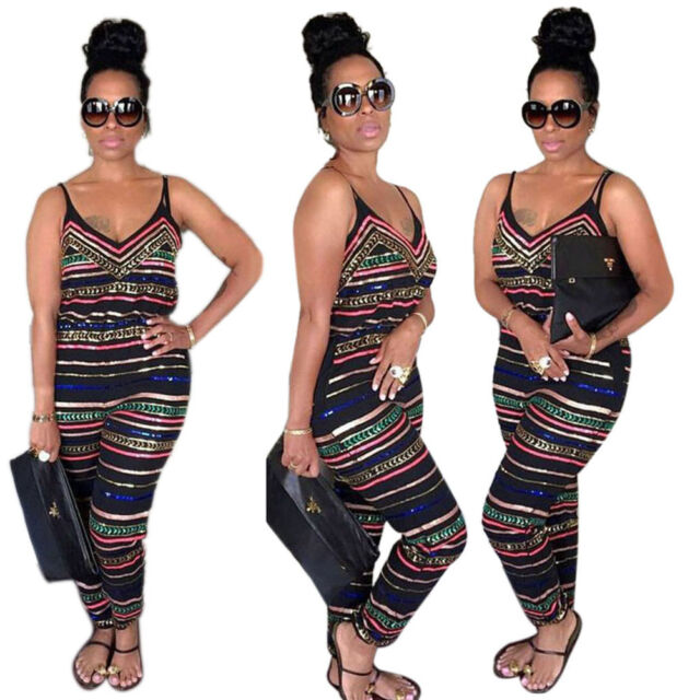 Fashion Women Party Jumpsuit Backless Playsuit Bodycon Romper Trousers Clubwear